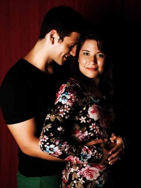 Glamour Shots young couple engagement portrait