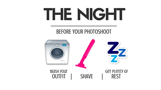 The Night Before - Wash Your Outfit, Shave, Get Rest