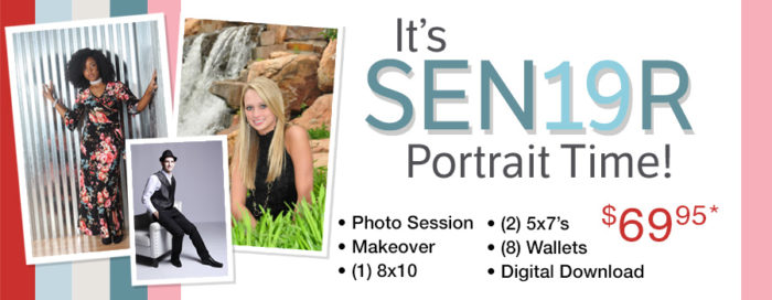 Glamour Shots Senior Portrait Offer