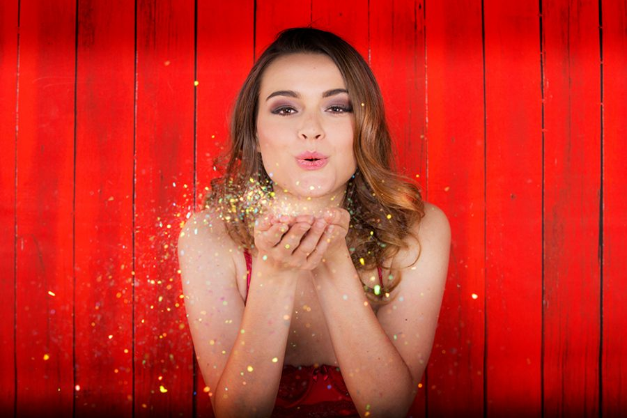 Glamour Shots glitter boudoir pictures