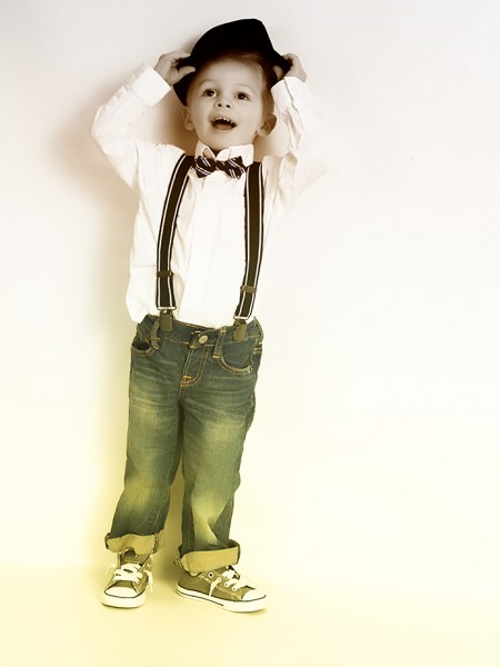 kids_portraits_bowtie_hat_glamour_shots
