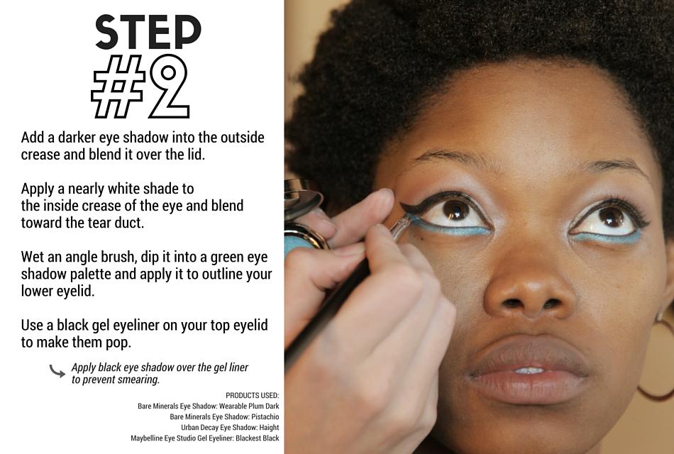 Holiday Makeup Tutorial - Evergreen Step 2 - Eyes