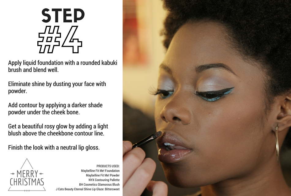 Holiday Makeup Tutorial - Evergreen Step 4 - Neutral shiny lips
