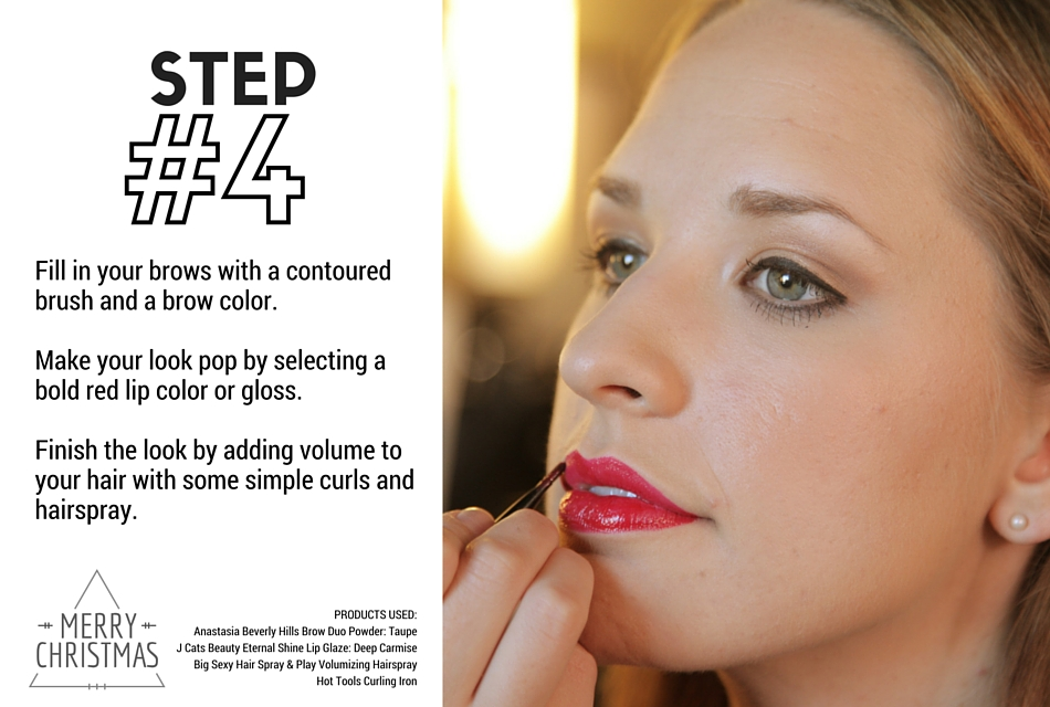Holiday Makeup Tutorial - Naughty and Nice Step 4 - Bold Red Lips