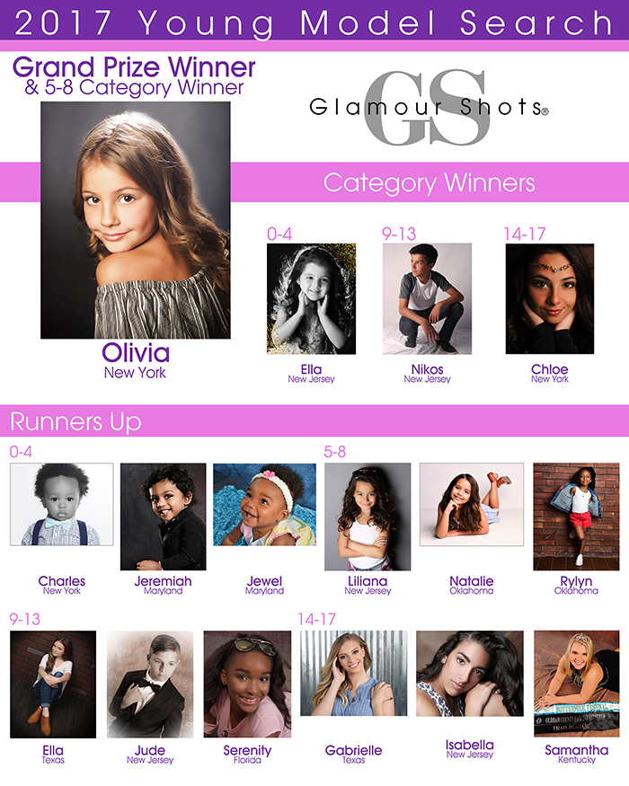 Glamour Shots Young Models Portrait Contest Winner 2017